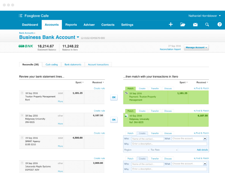 xero automatic reconciliation